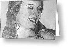 portrait of Angela Greeting Card