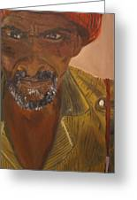 Portrait Of Beke Calebasse Haiti Greeting Card