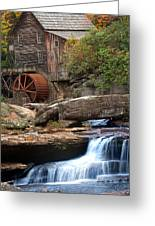 Portrait Of Glade Creek Mill Greeting Card