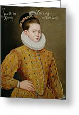 Portrait Of James I Of England And James Vi Of Scotland  Greeting Card