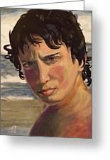 Portrait Of Jodediah Holems Greeting Card