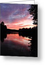 Portrait Of Lake Waukewan Greeting Card