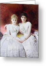 Portrait Of Marthe And Terese Galoppe Greeting Card