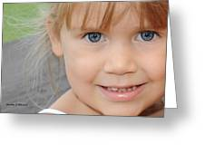 Portrait Of Megan Greeting Card