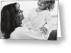 Portrait Of Mother And Daughter Greeting Card by Michelle Quance