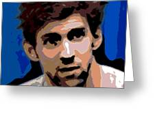 Portrait Of Phelps Greeting Card