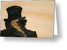 Portrait Variation In Beige - Stu With Hat Greeting Card