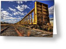 Portsmouth Rail Cars Greeting Card