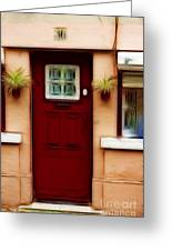 Portugal Red Door Greeting Card