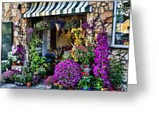 Positano Flower Shop Greeting Card