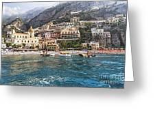 Positano Seaside View Greeting Card