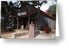 Post Office In Luckenbach Texas Greeting Card