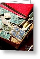 Postage Stamps Greeting Card