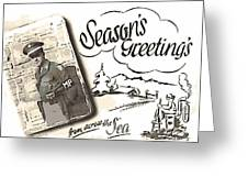 Postcard From War Greeting Card