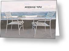 Poster Missing You Greeting Card