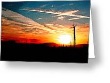 Poster Sunset Greeting Card