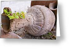 Pot Garden Ornament Greeting Card