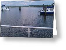 Potomac River Dock Greeting Card