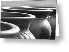Pots In Black And White Greeting Card