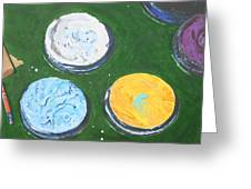 Pots Of Paint Greeting Card