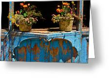 Pots Over Peeling Paint Greeting Card