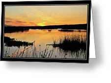 Potter Marsh Sunset Greeting Card