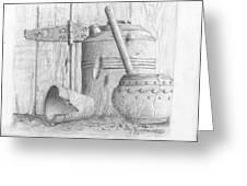 Potting Shed Greeting Card by Jim Hubbard