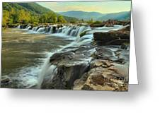 Pouring Over Sandstone Greeting Card