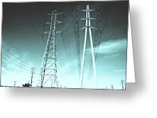 Power Lines Greeting Card by Jay Reed