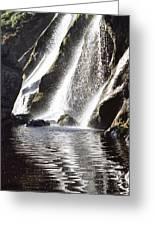 Powerscourt Waterfall, Powerscourt Greeting Card