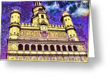 Poznan City Hall Greeting Card by Mo T