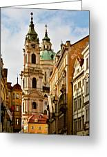 Prague - St. Nicholas Church Lesser Town Greeting Card by Christine Till