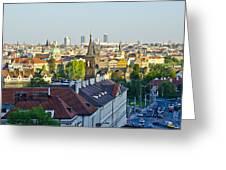 Prague And St Charles Bridge Greeting Card