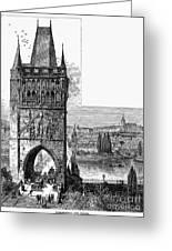 Prague: Carlsbridge Greeting Card