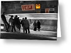 Prague Underground Station Stairs Greeting Card