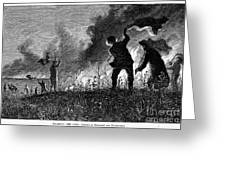 Prairie Fire, 1874 Greeting Card