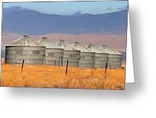 Prairie Silos Greeting Card
