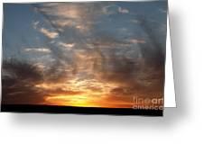 Prairie Sunset No1 Greeting Card