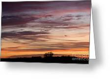 Prairie Sunset No3 Greeting Card