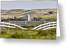 Prairie Town With Elevator Greeting Card