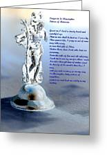Prayer To St Christopher Greeting Card