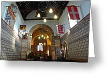 Praying At The St Mary Church Inside Dover Castle In England Greeting Card