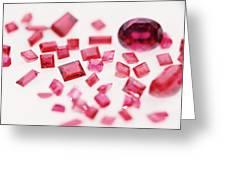 Precious Gemstones Greeting Card