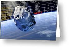 Predicting Asteroid Impact, Artwork Greeting Card by Detlev Van Ravenswaay