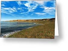Prehistoric Coastal Landscape, Artwork Greeting Card