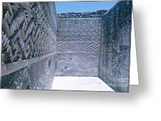 Prehistoric Ruins Of Mitla Greeting Card