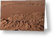 Prehistoric Schiaparelli Crater, Artwork Greeting Card