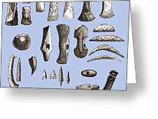 Prehistoric Stone Tools Greeting Card