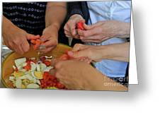 Preparing Salad Greeting Card