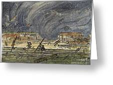 Kansas Cyclone, 1887 Greeting Card